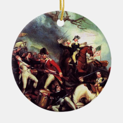 Death Of General Mercer at the Battle of Princeton Christmas Tree Ornaments