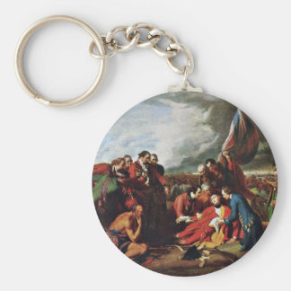 Death Of General Wolfe By West, Benjamin Keychain