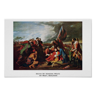 Death Of General Wolfe By West, Benjamin Poster