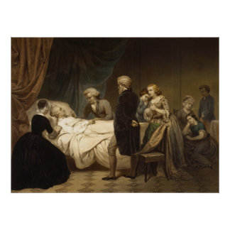 Death of George Washington poster/print Poster