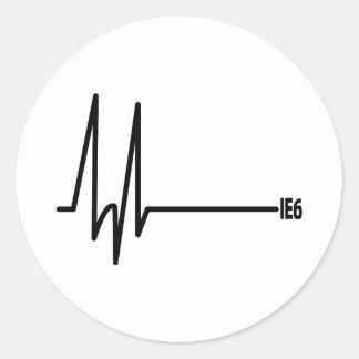 Death of IE6 Classic Round Sticker