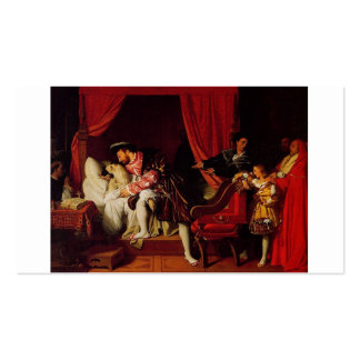 Death of Leonardo Da Vinci by Ingres c. 1818 Double-Sided Standard Business Cards (Pack Of 100)