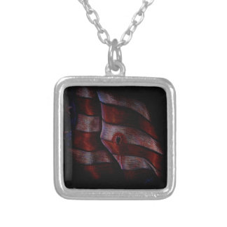 Death of Liberty Square Pendant Necklace