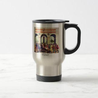 Death Of Lucretia By Lippi Filippino 15 Oz Stainless Steel Travel Mug