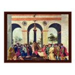 Death Of Lucretia By Lippi Filippino Postcard