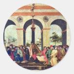 Death Of Lucretia By Lippi Filippino Round Stickers