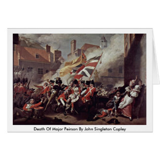 Death Of Major Peirson By John Singleton Copley Greeting Card