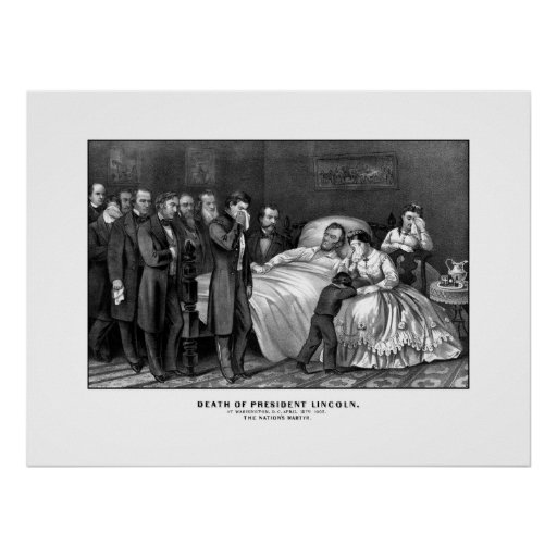 Death Of President Lincoln Print