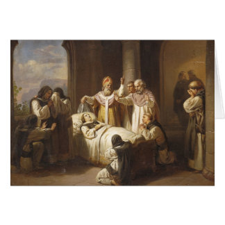 Death of Saint Margaret of Hungary - Jozsef Molnar Card