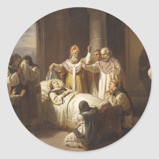 Death of Saint Margaret of Hungary - Jozsef Molnar Classic Round Sticker