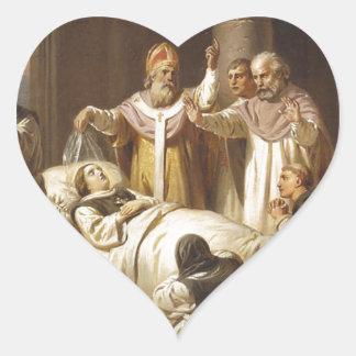 Death of Saint Margaret of Hungary - Jozsef Molnar Heart Sticker
