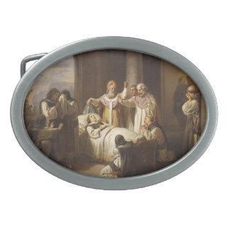 Death of Saint Margaret of Hungary - Jozsef Molnar Oval Belt Buckle