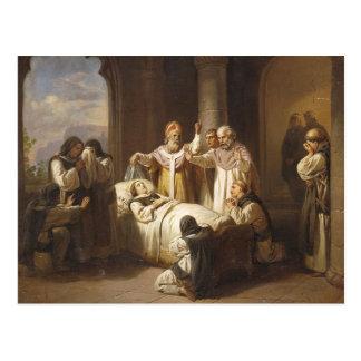 Death of Saint Margaret of Hungary - Jozsef Molnar Postcard