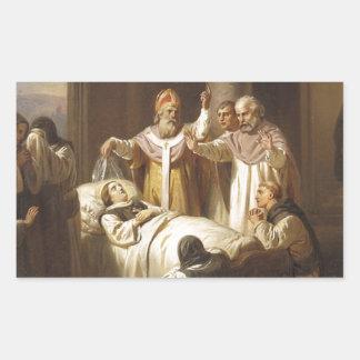 Death of Saint Margaret of Hungary - Jozsef Molnar Rectangular Sticker
