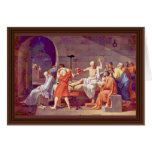 Death Of Socrates By David Jacques-Louis (Best Qua Greeting Card