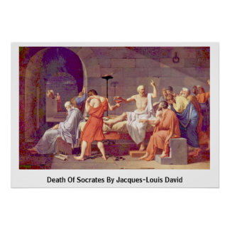 Death Of Socrates By Jacques-Louis David Poster