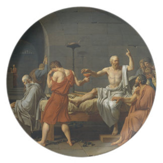 Death of Socrates Plate