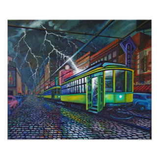 DEATH OF THE STREETCARS POSTER