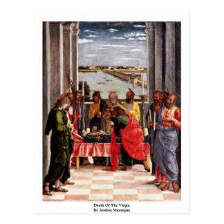 Death Of The Virgin By Andrea Mantegna Postcard