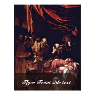 Death Of The Virgin By Michelangelo Merisi Da Cara Flyer Design