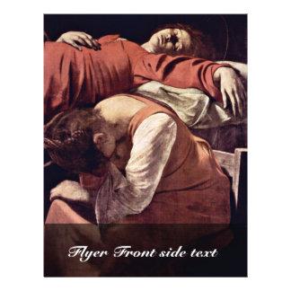 Death Of The Virgin Detail By Michelangelo Merisi Flyers