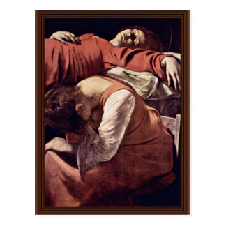 Death Of The Virgin Detail By Michelangelo Merisi Postcard