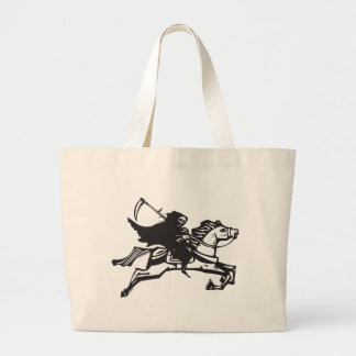 Death on a white horse jumbo tote bag