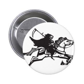 Death on a white horse 2 inch round button