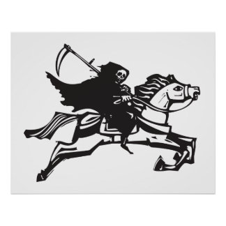 Death on a white horse poster