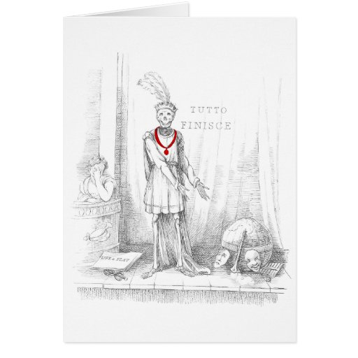 Death on Stage for the Final Act Greeting Card