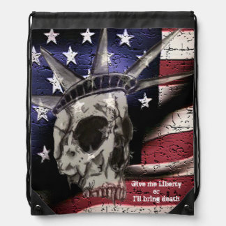 Death or Liberty Drawstring Backpack