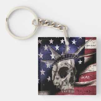 Death Or Liberty Double-Sided Square Acrylic Keychain