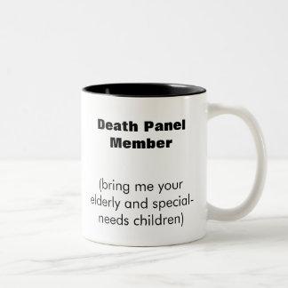 Death Panel Member Two-Tone Coffee Mug