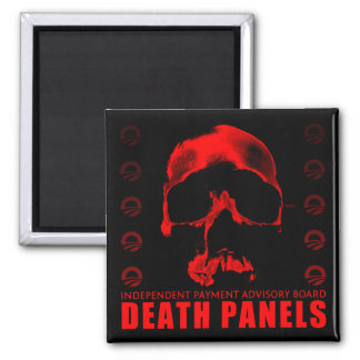 Death Panels 2 Inch Square Magnet