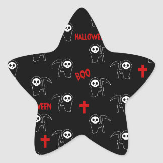 Death pattern - Halloween Star Sticker