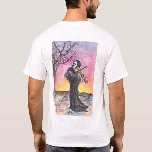 Death Plays The Violin Mens T_Shirt