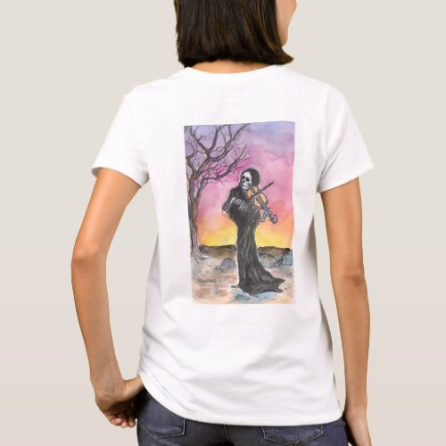 Death Plays The Violin Womens T_Shirt