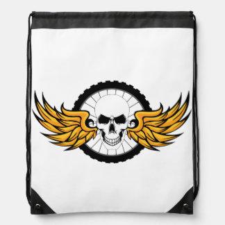 Death Ride Drawstring Bag