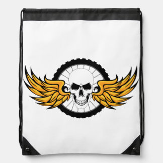 Death Ride Drawstring Backpack
