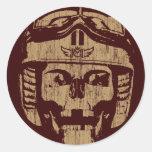 Death Ride (vintage gold) Classic Round Sticker