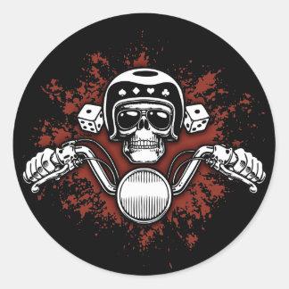 Death Rider - Dice Classic Round Sticker