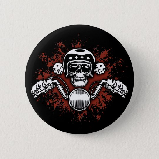 Death Rider - Dice Pinback Button