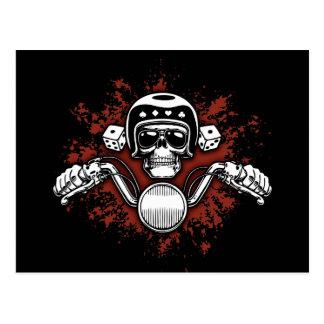 Death Rider - Dice Postcard