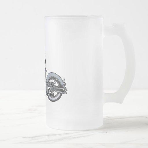 Death Rider III 16 Oz Frosted Glass Beer Mug