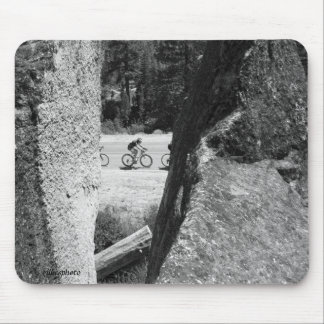 Death Riders Through the Granite B&W Mouse Pad