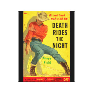 Death Rides the Night western book cover Canvas Print