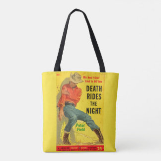 Death Rides the Night western book cover Tote Bag