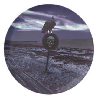 Death Road Dark Scene Melamine Plate