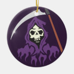 Death scythe man grim more reaper christmas tree ornaments