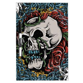 Death Skull Grave RIP Skeleton Dry Erase Board